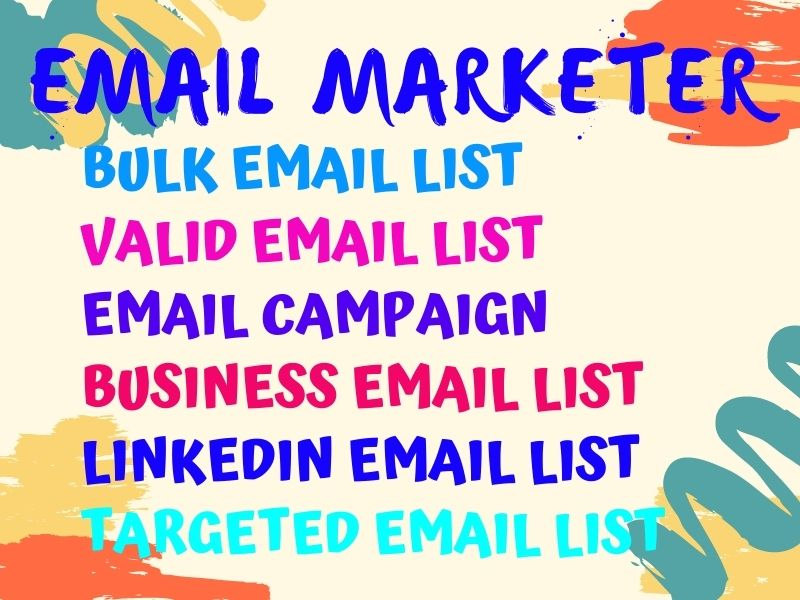 I will provide verified email list details,  marketing and campaign
