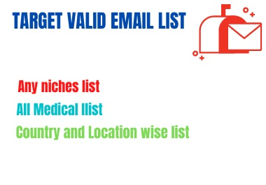 I will collect niche targeted email list clean and Varified
