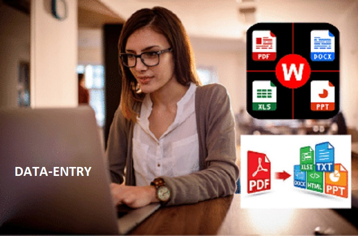 I will do data entry,  fast typing,  for your typing job 24 hour