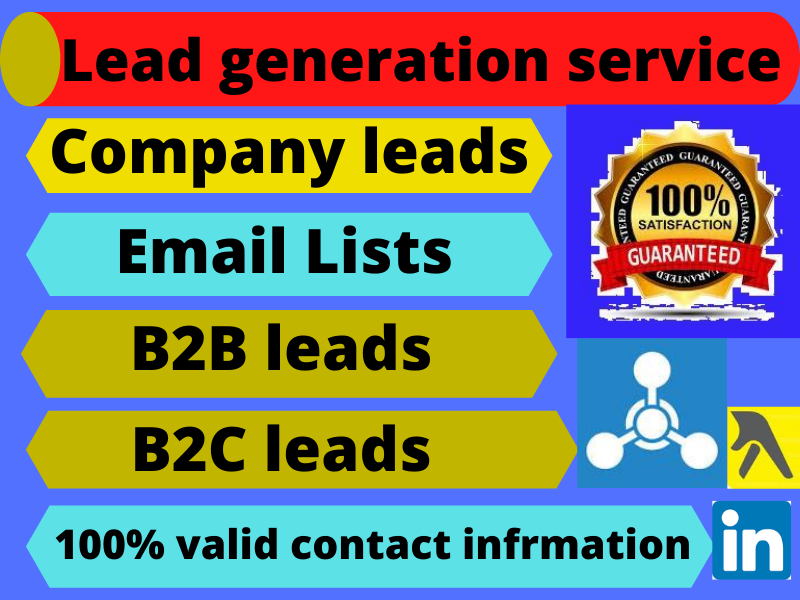 I will do b2b lead generation and valid information