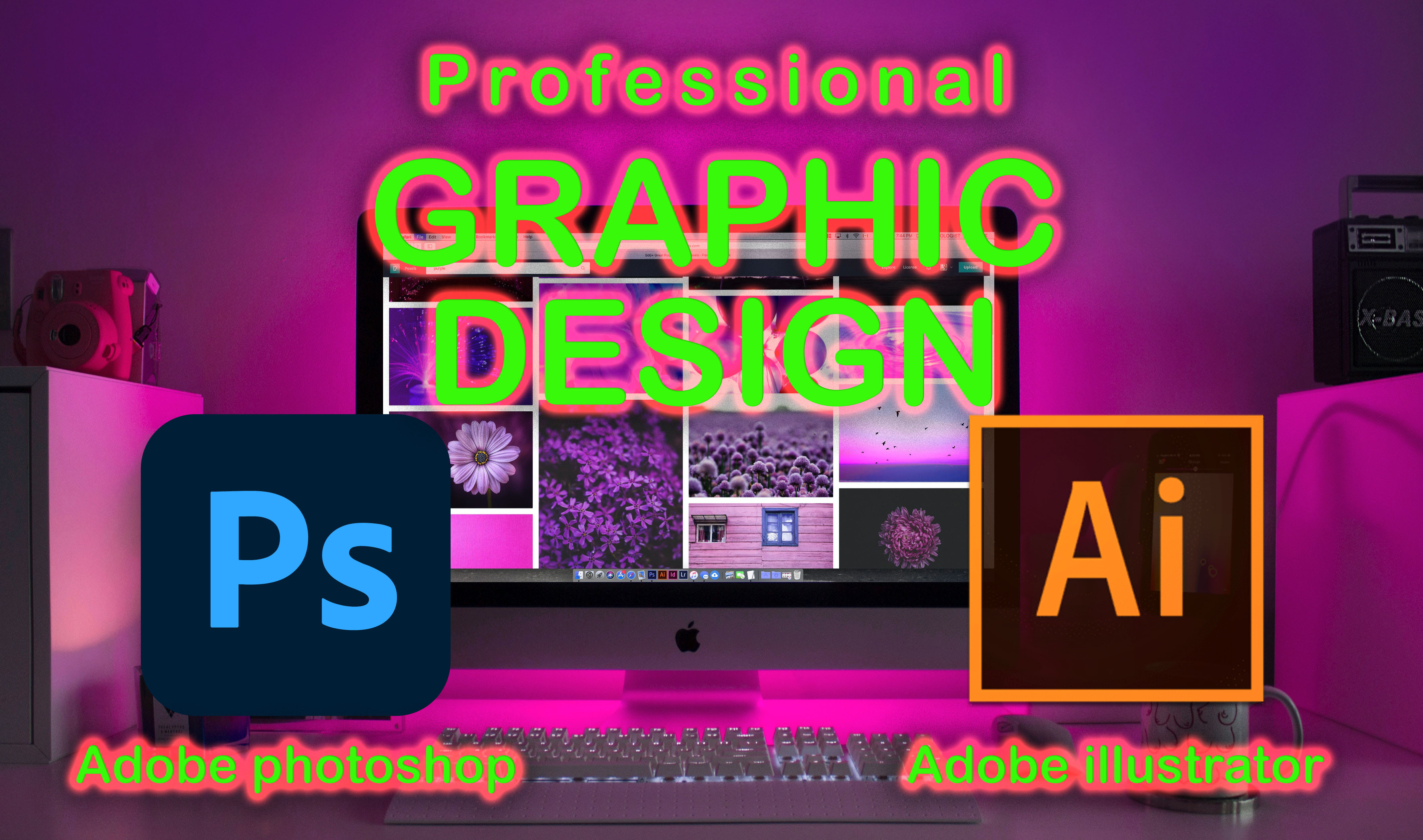 I will do any kind of graphic design using photoshop illustrator