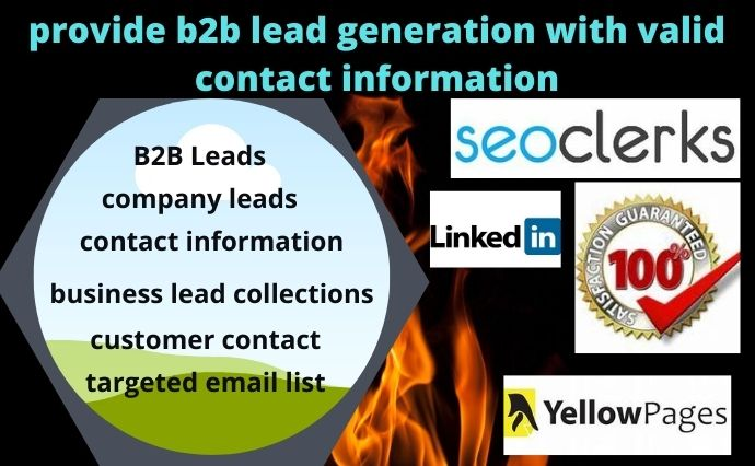 provide b2b lead generation with valid contact information