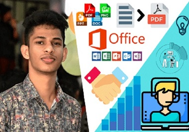 I will do Microsoft office typing job,  data entry on word,  excel