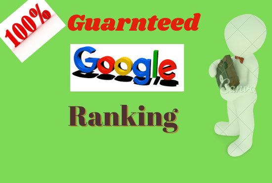 Guaranteed service google 1st pagge ranking with SEO