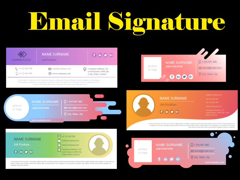 I will design professional clickable HTML email signature with unlimited revision