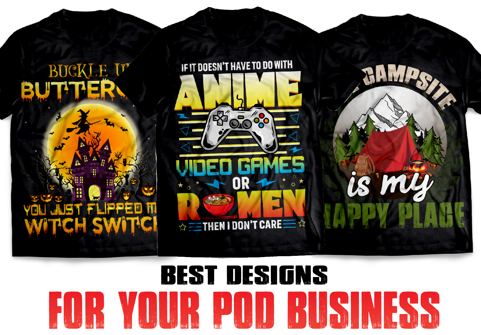 I will do unique custom t-shirt design for your POD store and amazon teespring etsy