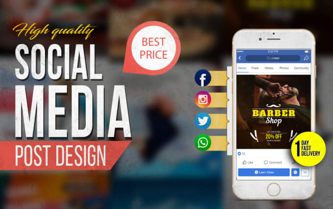I will design social media posts and images