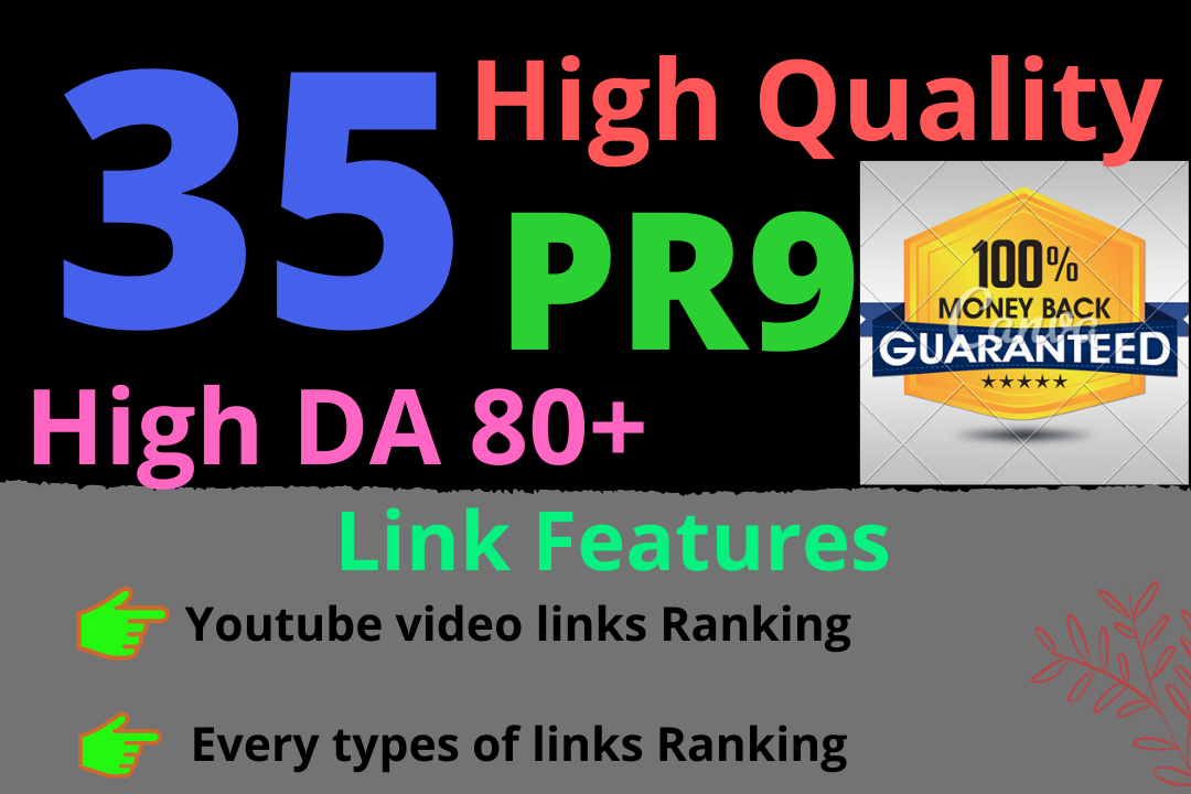 Manual 35 pr9 and pr10 high authority SEO backlinks with High DA Rank booster links