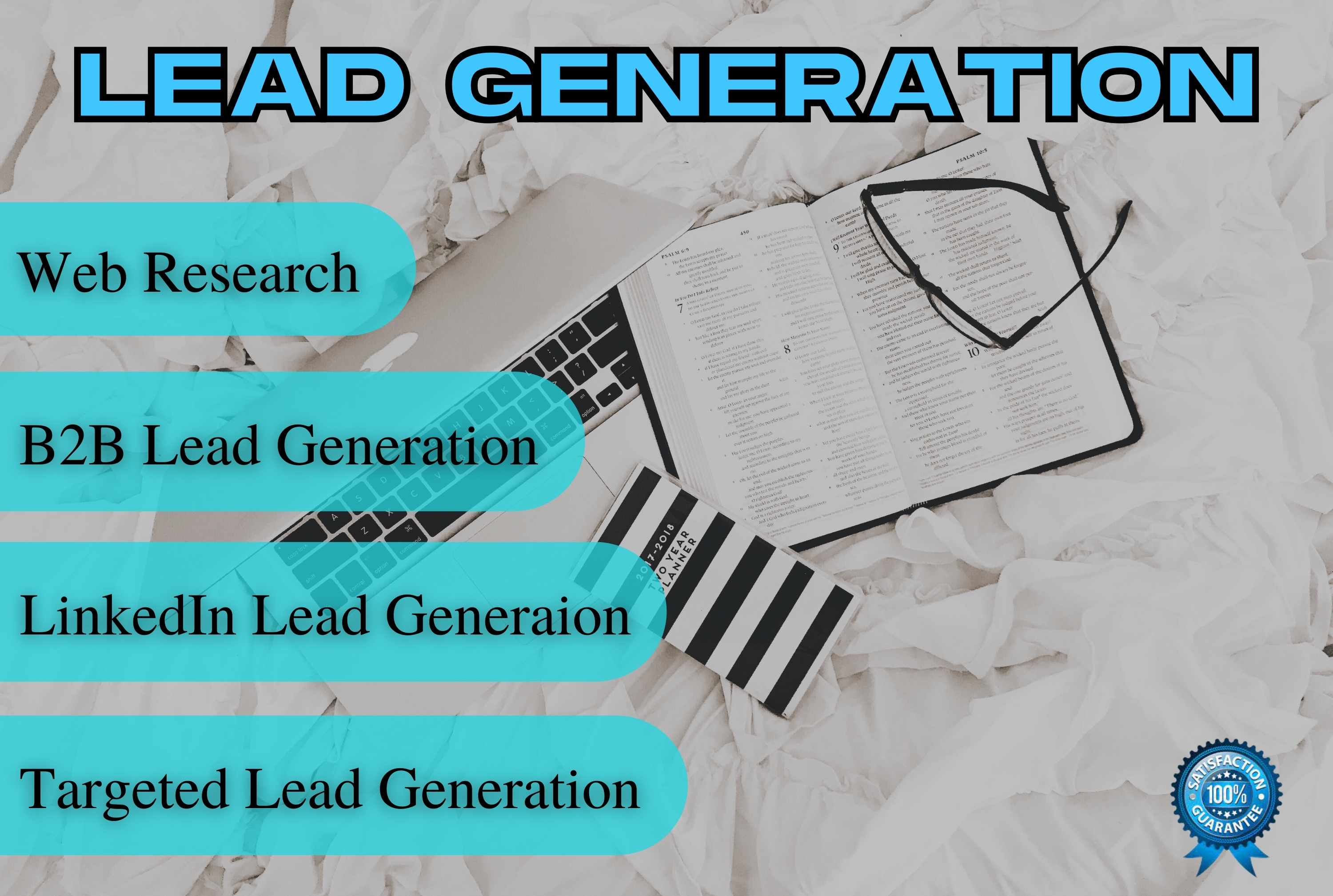 I will do linkedin lead generation and targeted b2b lead generation