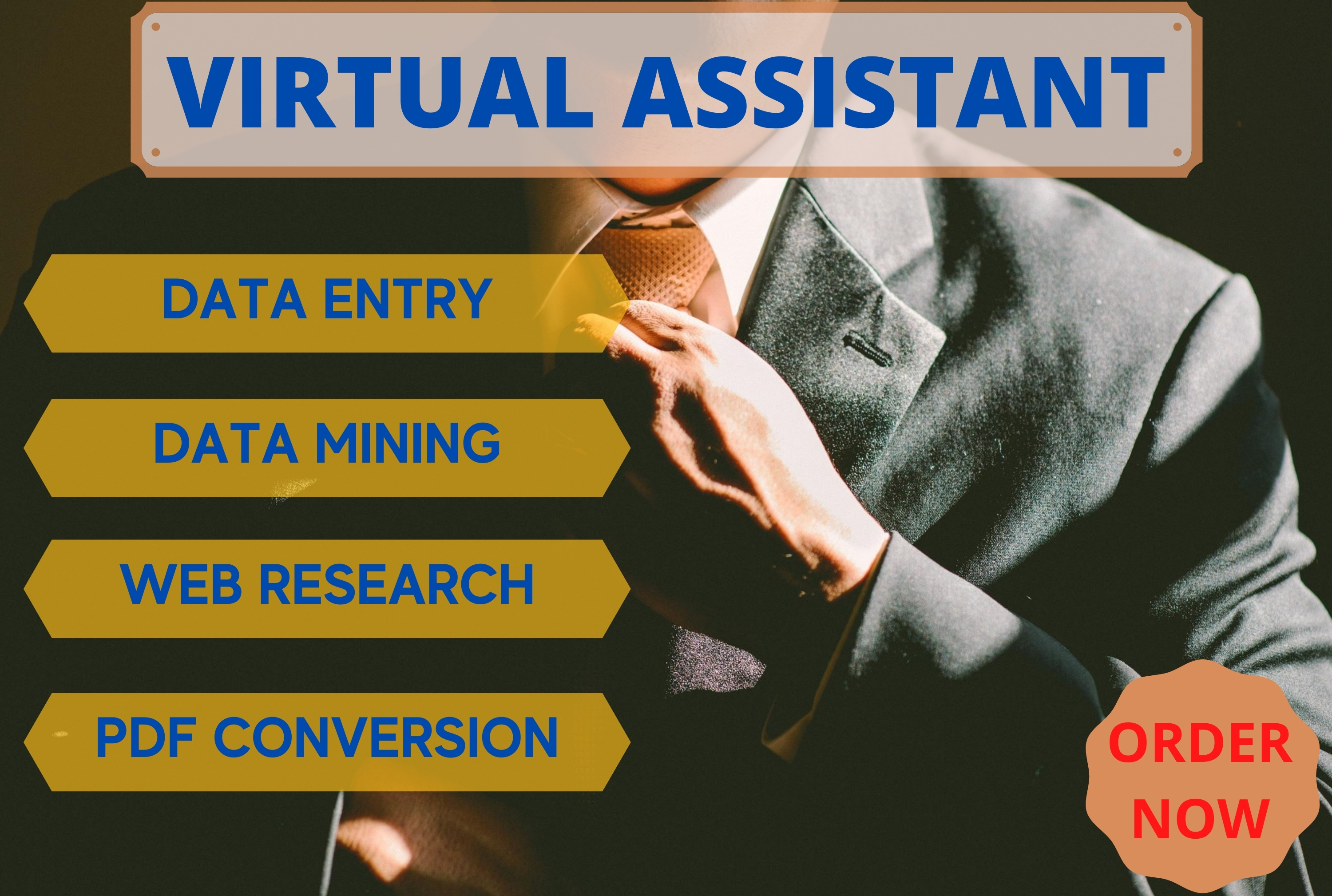 I will be your professional virtual assistant for data entry and web research