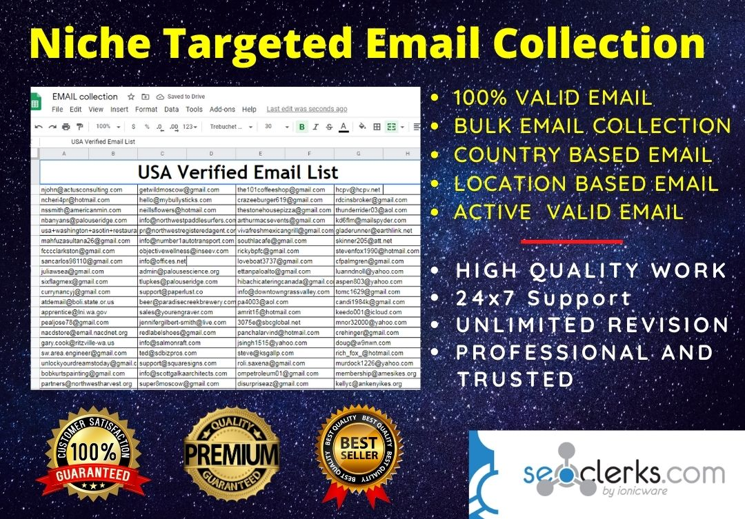 I will do any niche targeted email collection perfectly