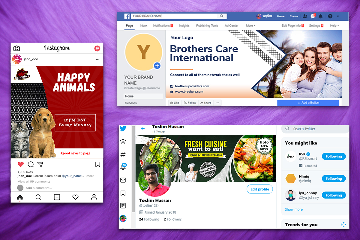 I will design facebook, instagram post or social media banner, ads