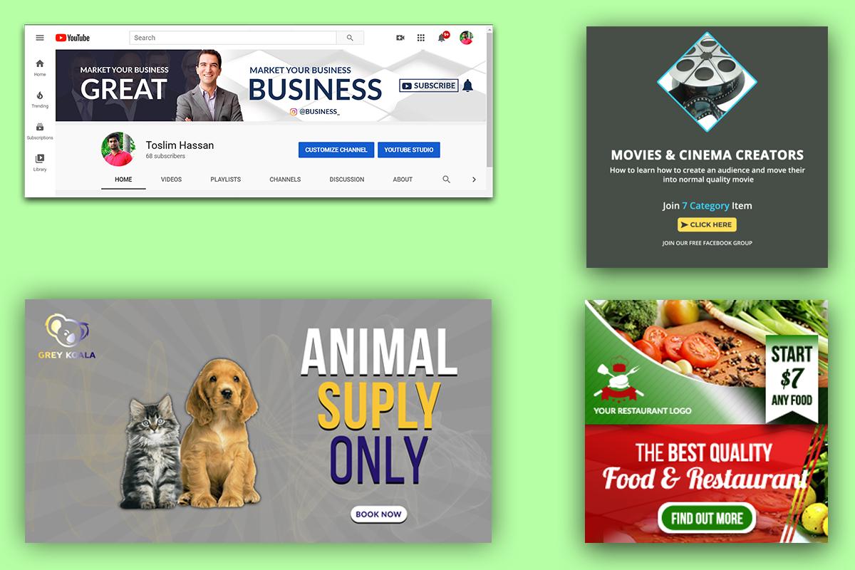 I will design social media post,  cover,  header and banner