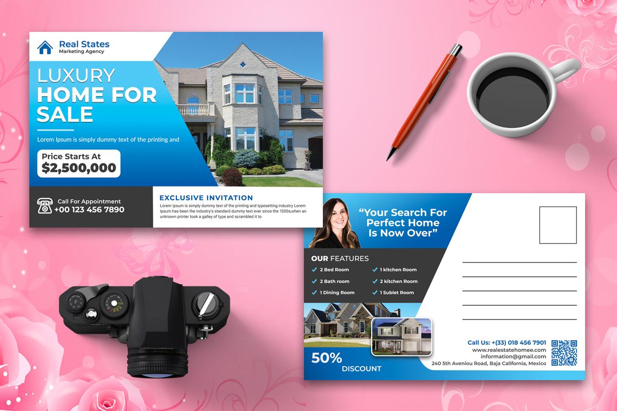 I will design professional real estate postcard or eddm postcard