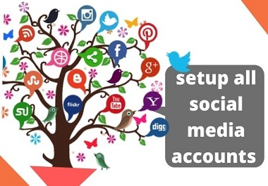 I will create all social media accounts and pages