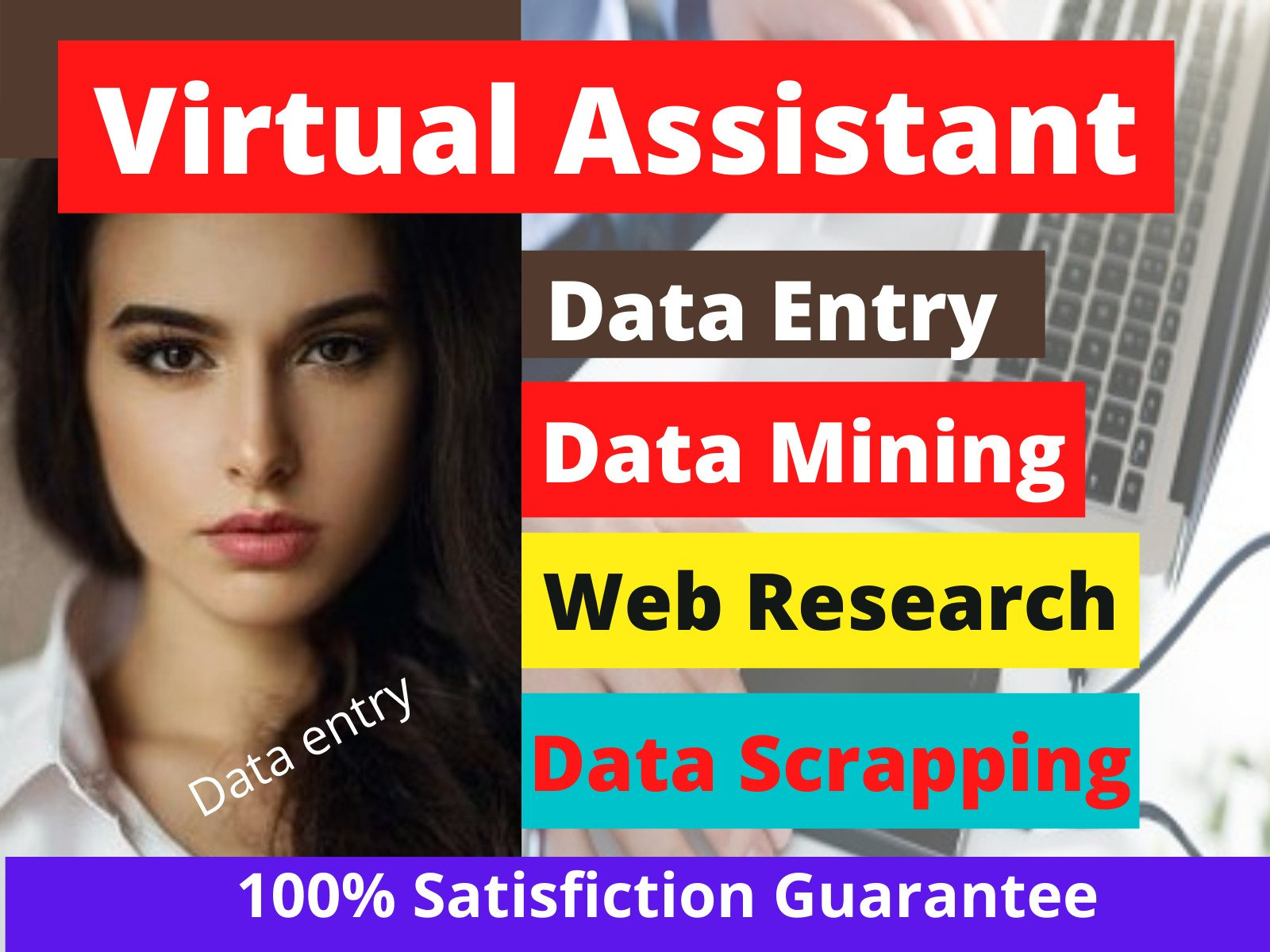 I will be your virtual assistant for web research,  data entry and excel