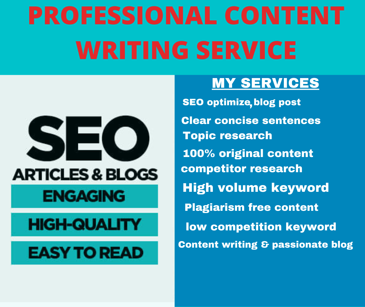 I will write Guest post, creative content or articles,  blog posts