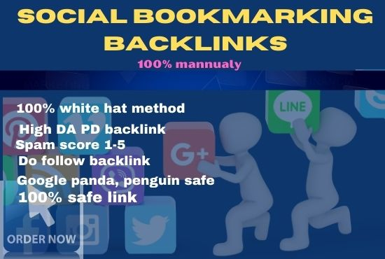 I will do 50+ social bookmarking on high PR sites