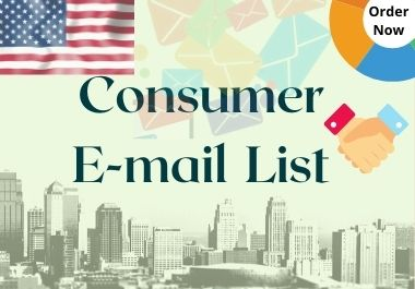 I provide USA based five thousand 5,000 consumer list.