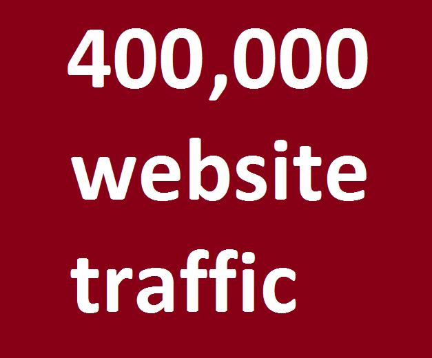 safe organic 400,000 website traffic from facebook,  instagram,  youtube,  twitter,  linkedin