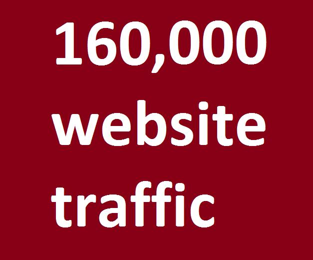 safe organic 160,000 website traffic from facebook,  instagram,  youtube,  twitter,  linkedin