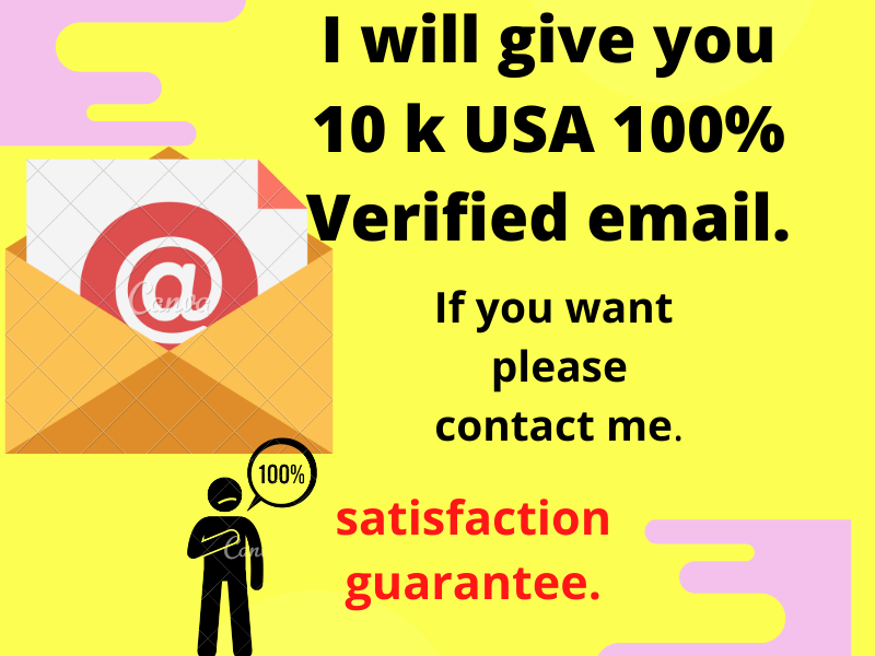 I will give you 10k USA verified email list.
