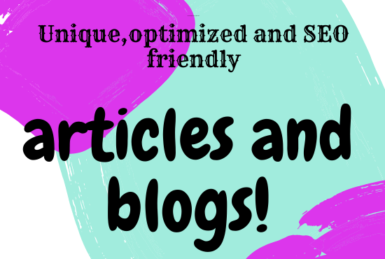 i will make a article for you on any topic