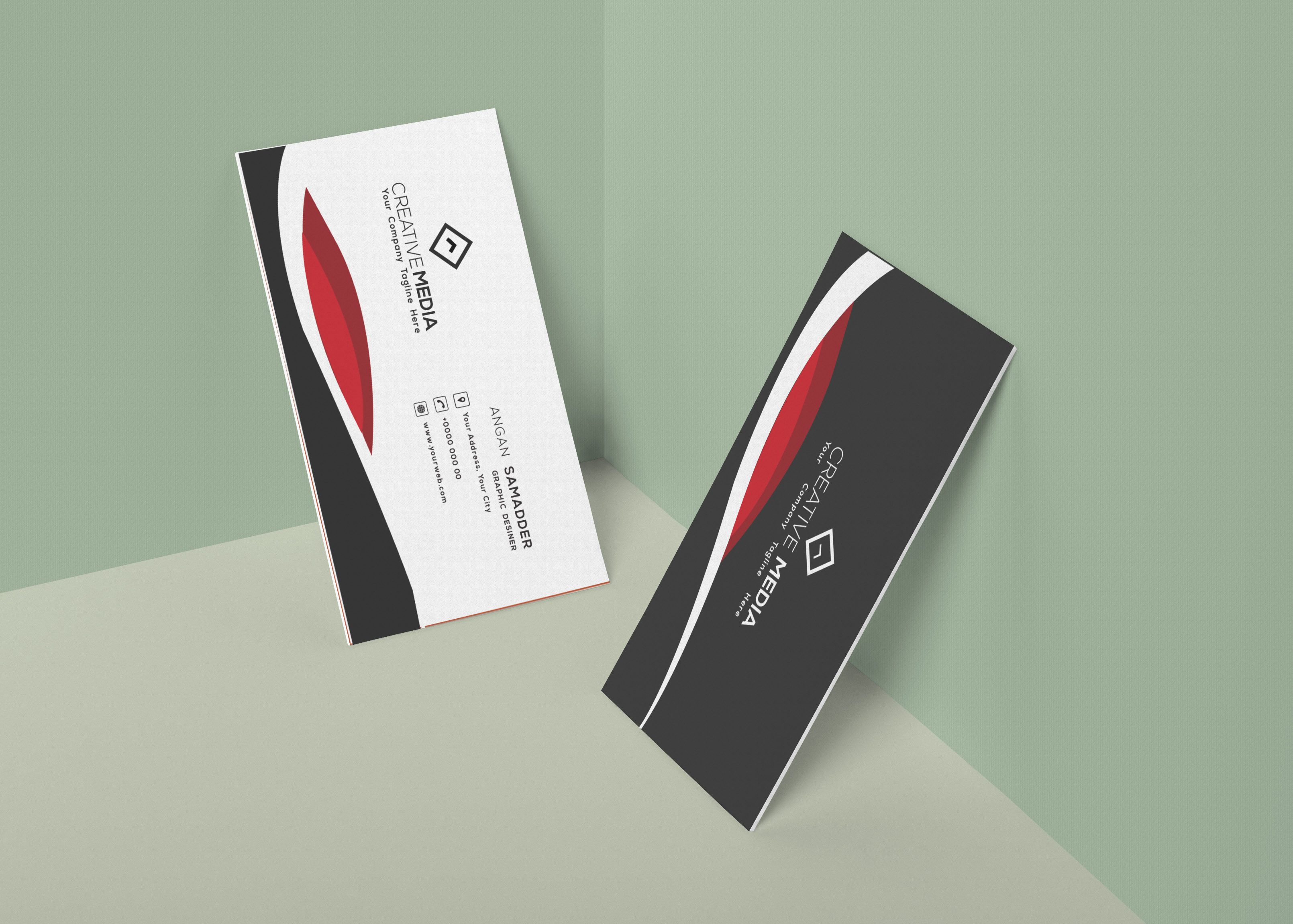 I will do professional and minimalist business card for you