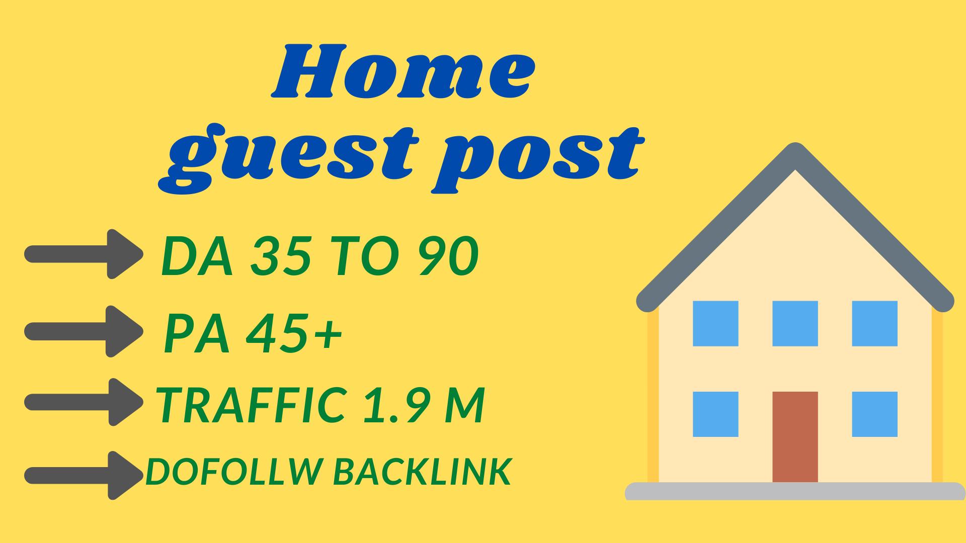 Home Improvement guest post on high DA site