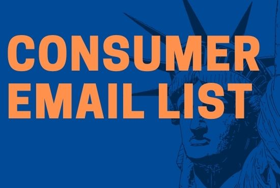 Any location targeted consumer email list