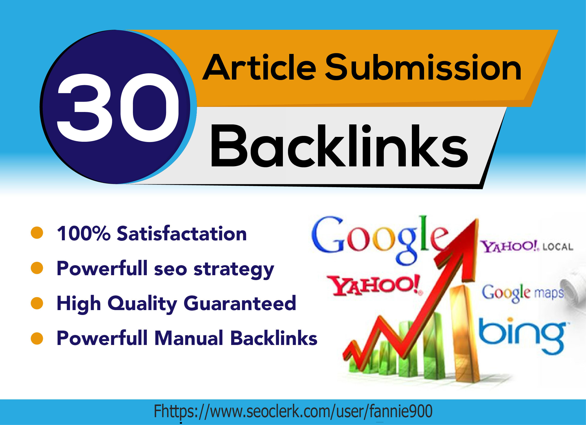 I will Submit Article in 30 High PR Article Submission Website + Approved Link Report
