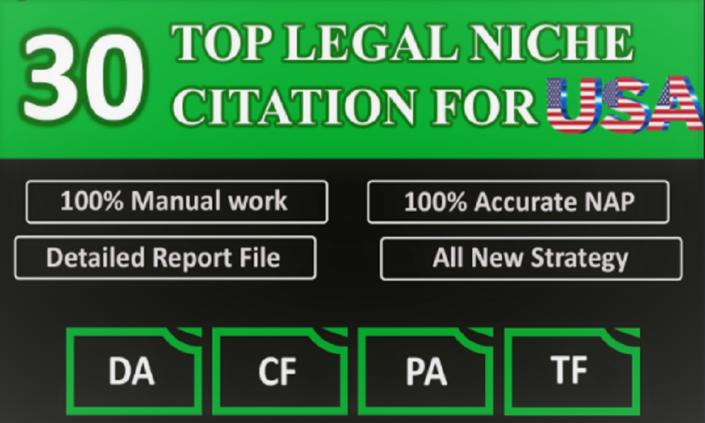 I Will Provide Live Top 30 USA local citation or local SEO,  map listing for your website