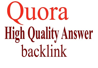 premanent 15 Quora Answer with your keywords & url