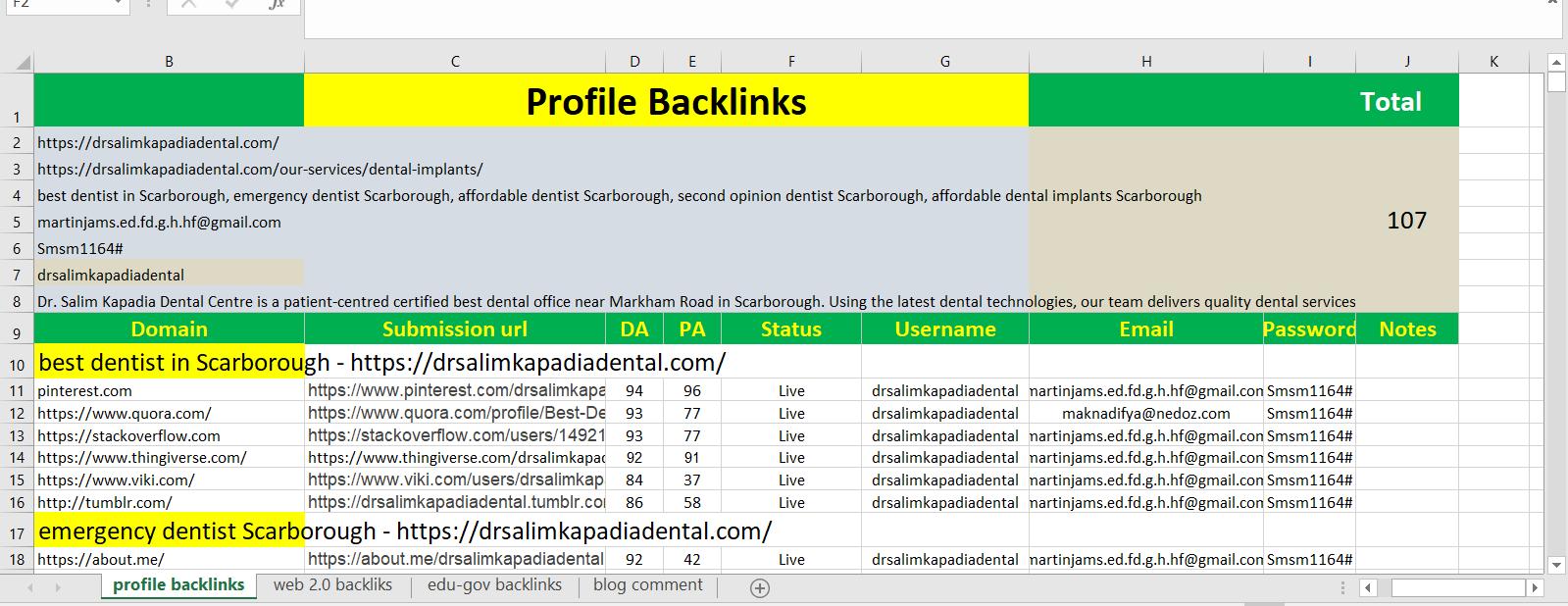 I Will MANUALLY Do 95+DA 25 PBN, 20 EDU Links, 25 Profile BackIinks for Google 1st Page