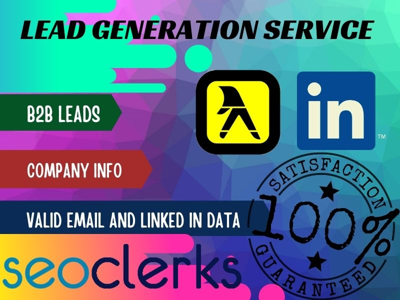 I will do lead generation by valid email and linkedin info