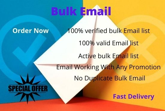 I will create 2000 Bulk verified email list