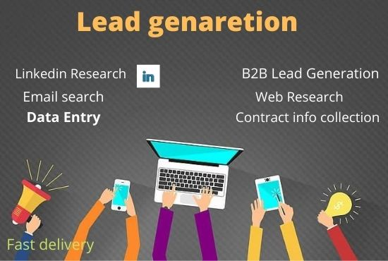 I will do B2B lead generation, Web research for targeted people