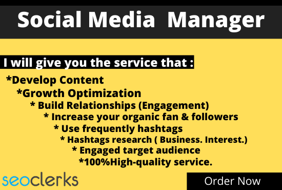 I want to be Your Social Media and Business Page Manager