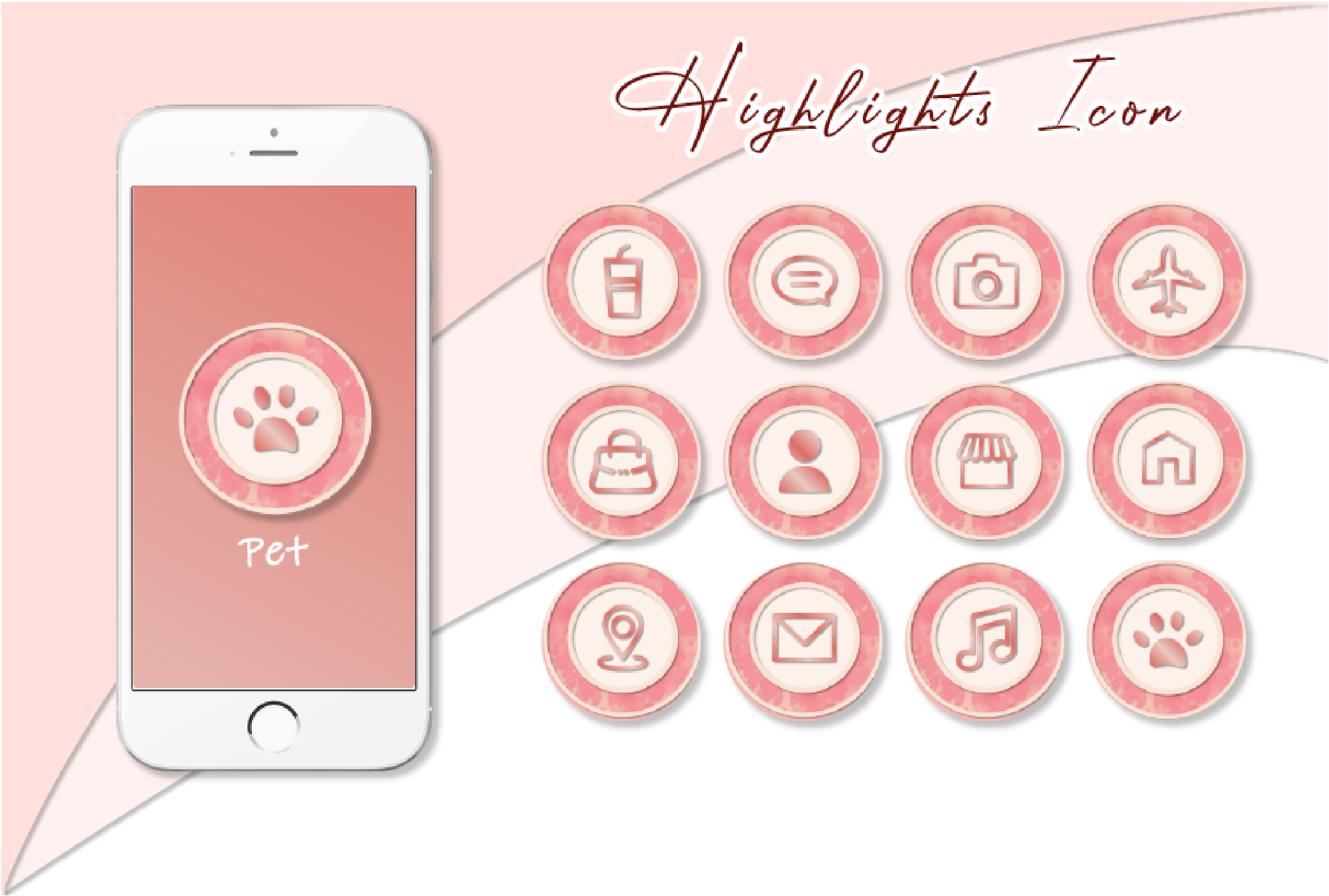I will create 5 custom instagram highlights cover icon