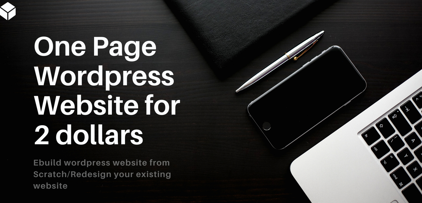 I will Create Your One Page Wordpress Website