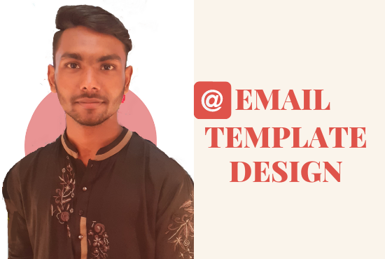 I will design a professional HTML email template.