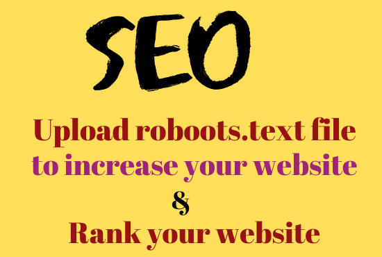 I will Do create and upload robots text and sitemap file