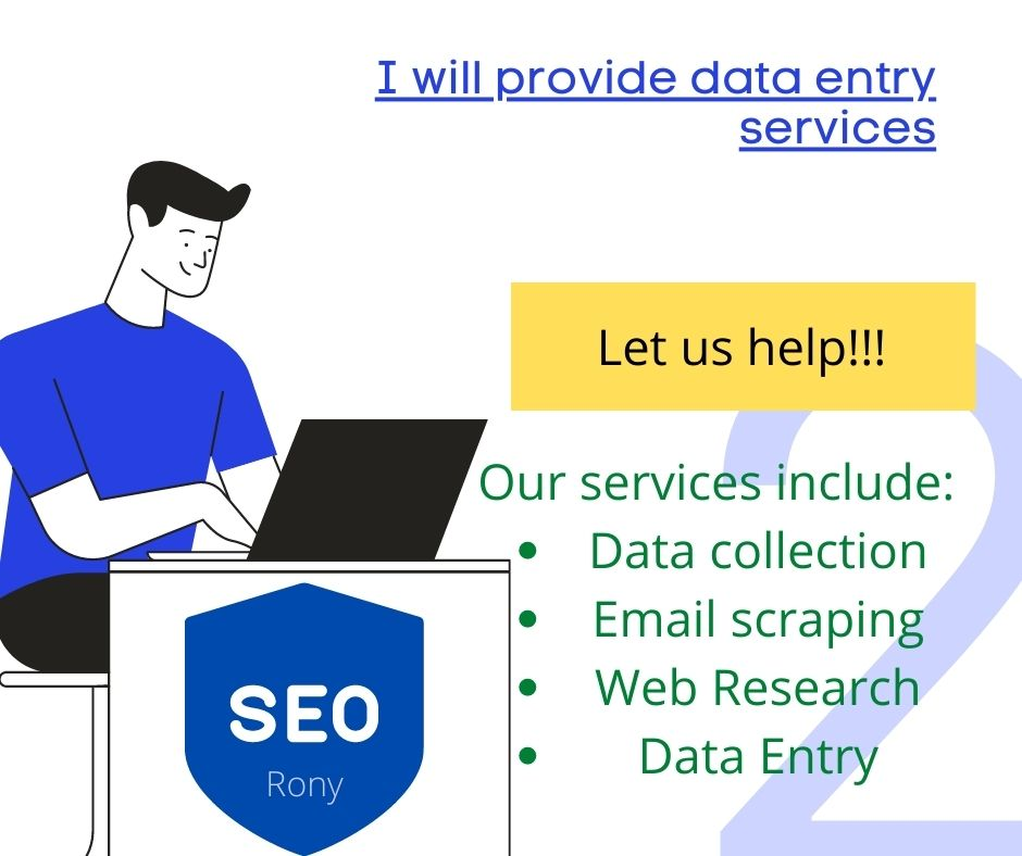 I will scrape public data from any website. My Services are Web Scraping,  Web CRAWLING,  Data Mining.