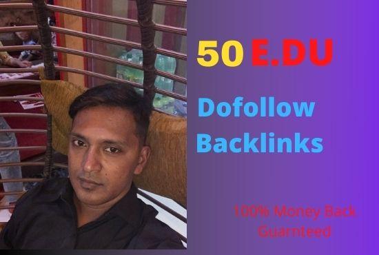 I will create 50 Edu do follow backlinks