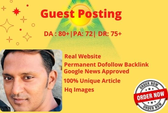 I will guest post on my google news approved DA57 website