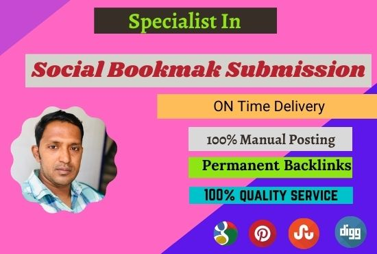 I will do create 30 social bookmarking