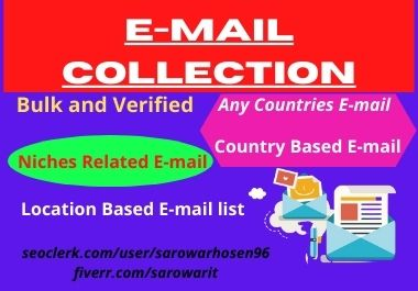 I will give 1000 verified email collection