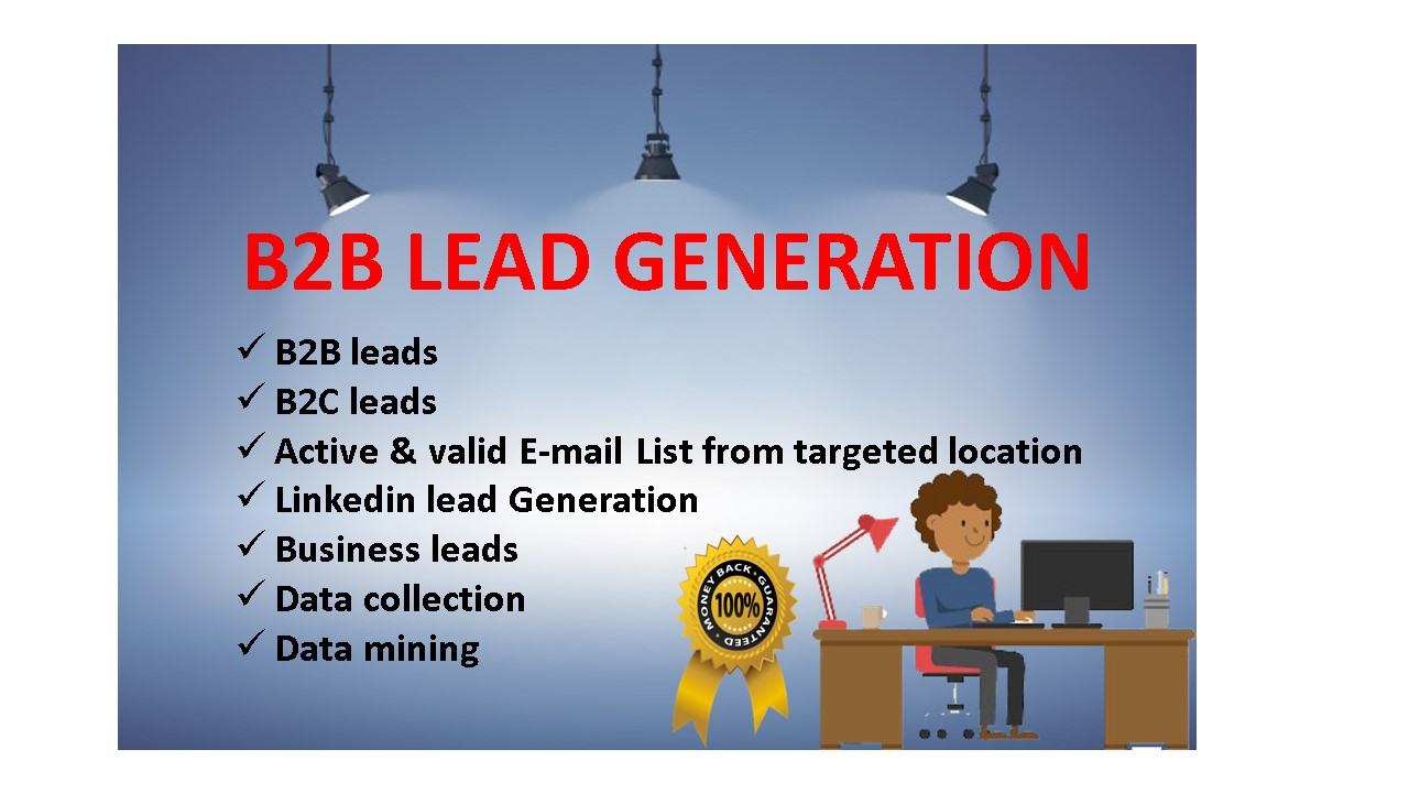 I will provide active & fresh B2B lead Generation & E-mail list for targeted industry.