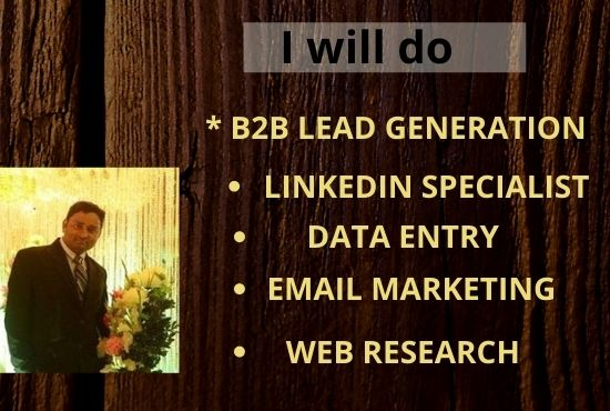 I will do B2B lead generation, Email Marketing & Web Research