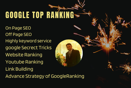 I will Provide complete SEO services for google top ranking